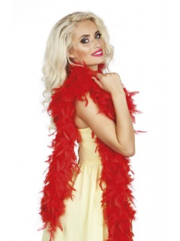 boa plumes rouge