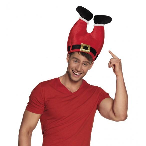 a512b808b2f3b Bonnet Père Noël Drôle   Original - Chapeau Fantaisie pour les Fêtes