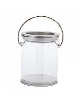 Boîte ronde PVC couvercle zinc