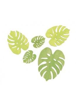 Sachet 10 feuilles palmier en bois
