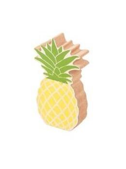 Déco ananas bois 11cm