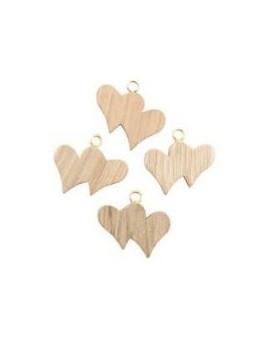 Set 12 double-coeurs en bois