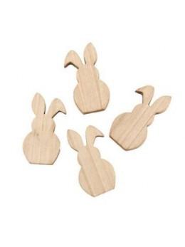 Set 8 lapins en bois