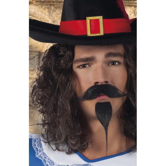 Moustache + bouc mousquetaire