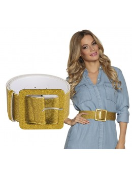 ceinture pailletée or