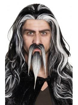 moustache et bouc magicien
