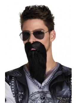 Barbe noire de biker