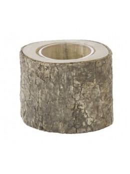 Bougeoir rondin de bois 6cm