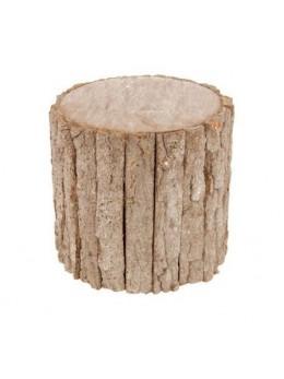 Déco tronc d'arbre 20cm