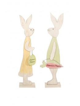 Déco lapin bois grand modèle