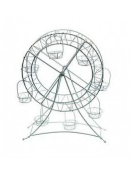 Grande roue métal blanc 27cm