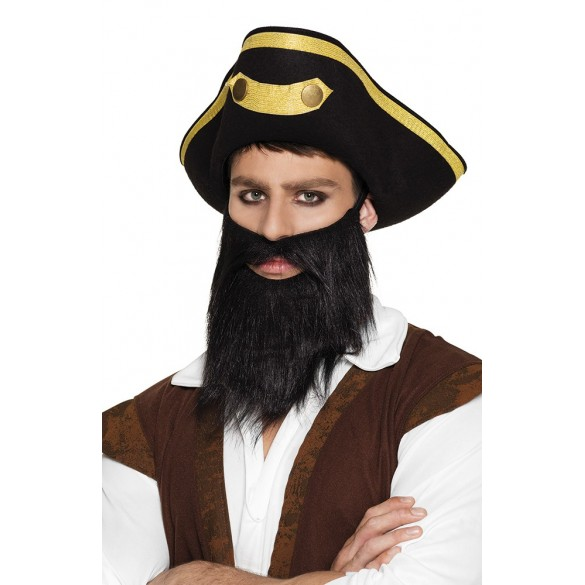 barbe noire de pirate