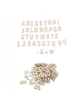 Sachet 120 pièces lettres et chiffres adhésifs