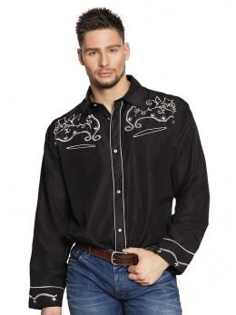 Déguisement chemise country noire