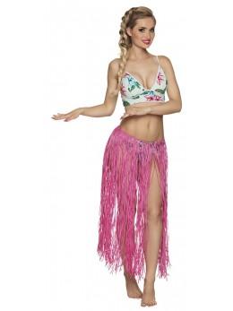 déguisement jupe hawaienne rose