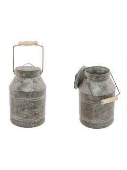 Pot à lait en zinc avec couvercle 22cm
