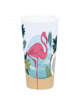 Gobelet flamant rose plastique