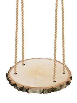 Suspension rondin de bois avec corde