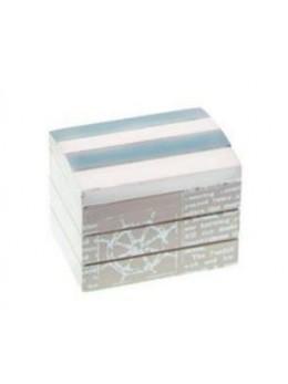Coffre marin bois blanchi bleu ciel 8cm