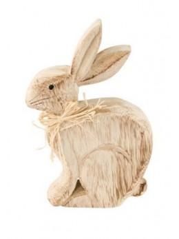 Déco lapin bois 13x20x3cm