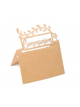 20 marque places communion kraft