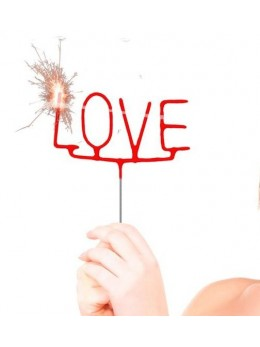 Cierge magique Love rouge