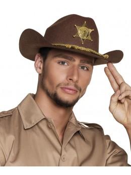 Chapeau cowboy shériff luxe