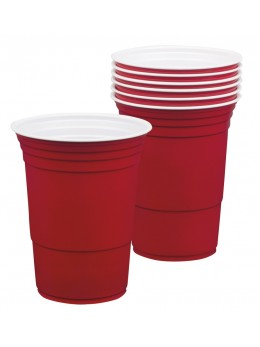 6 Gobelets Red Cup rouge