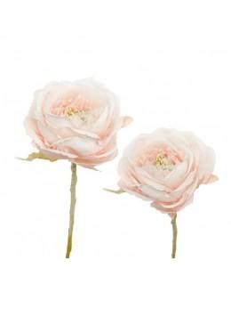 Déco camellia rose pastel 10cm