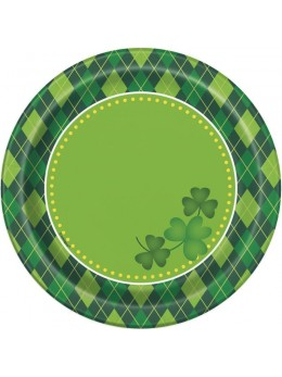 8 assiettes Saint Patrick's day 18cm