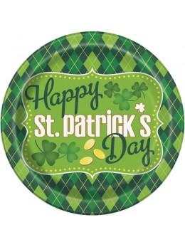 8 assiettes Saint Patrick's day 23cm