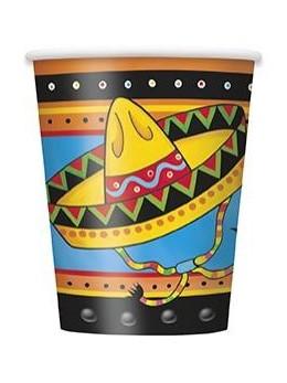 8 Gobelets fête Mexicaine