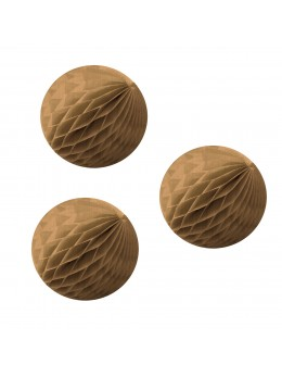 3 mini boules papier kraft 8cm
