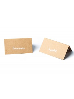 20 marque place communion kraft 9cm