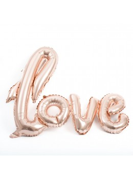 "Ballon alu ""Love"" rose dorée"