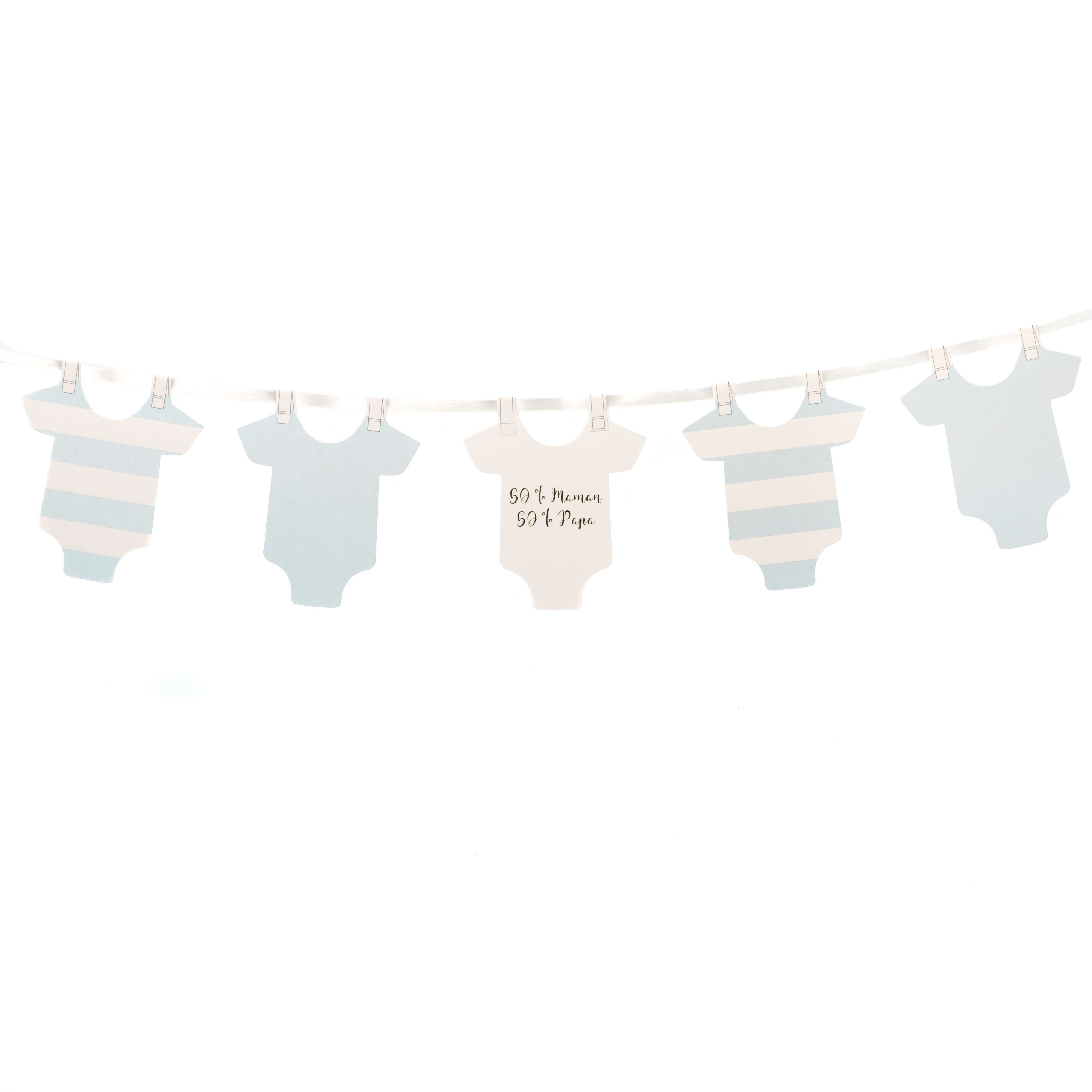 Guirlande body baby shower   Décoration baby shower garçon 8a3a03001b5
