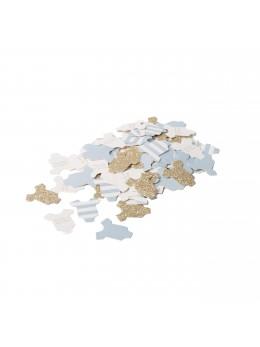 100 confetti body bébé bleu