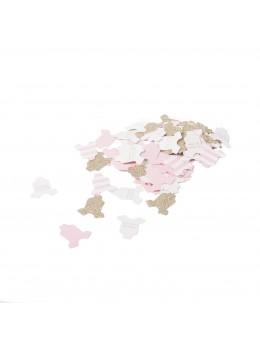100 confetti body bébé rose