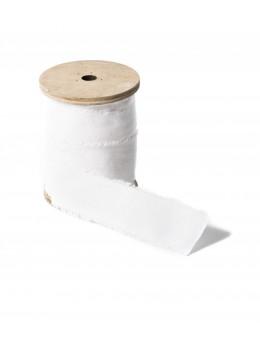 Ruban lin blanc 3cm