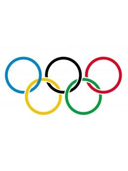 10 Drapeaux papier Jeux olympiques