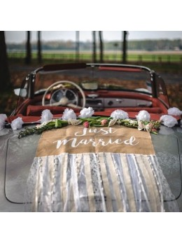 Kit voiture mariés champêtre