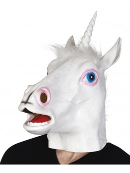 Masque latex adulte licorne