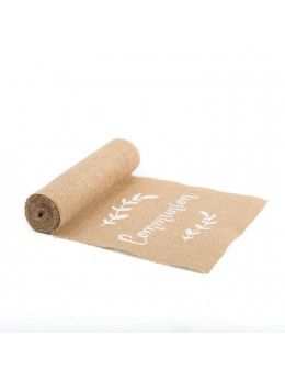 Chemin de table jute communion