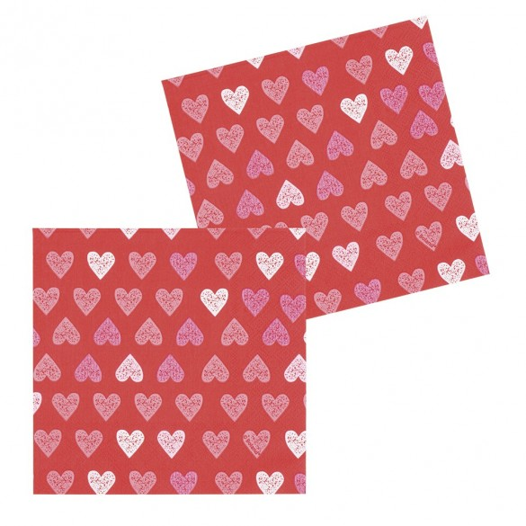 Serviettes papier jetable pas cher d coration de table st valentin - Decoration saint valentin pas cher ...