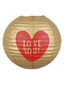 Lampion papier Love