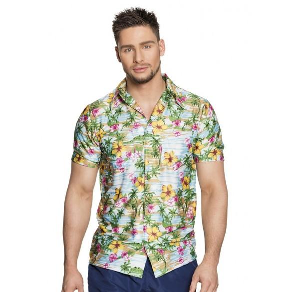 chemise à fleurs hawai