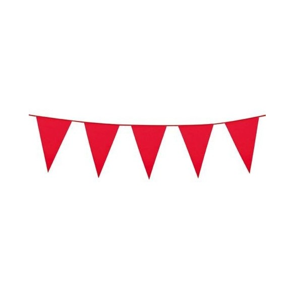 Guirlande pavillons rouge