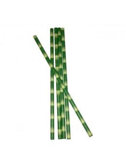 25 Pailles façon bambou