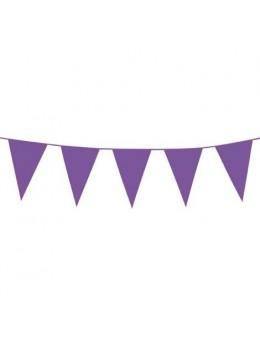 Guirlande pavillons violet