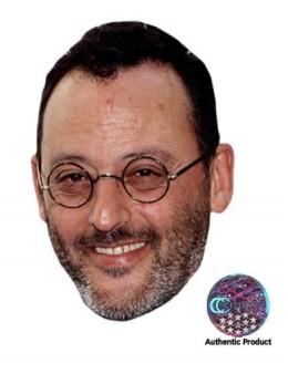 Masque carton Jean Reno